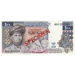 Mauritanie - Pick 3As - 100 ouguiya - 1975 - Spécimen non émis - Etat : NEUF