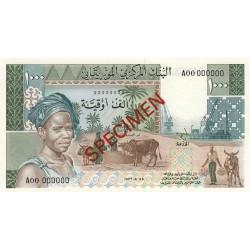 Mauritanie - Pick 3Cs - 1'000 ouguiya - 29/06/1977 - Spécimen non émis - Etat : NEUF
