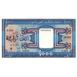 Mauritanie - Pick 7as - 1'000 ouguiya - 1974 - Spécimen - Etat : NEUF