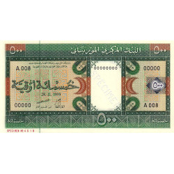 Mauritanie - Pick 8as - 500 ouguiya - 28/11/1999 - Spécimen - Etat : NEUF