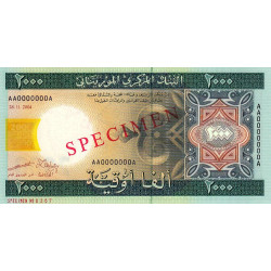 Mauritanie - Pick 14as - 2'000 ouguiya - 2004 - Spécimen - Etat : NEUF