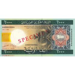 Mauritanie - Pick 14as - 2'000 ouguiya - 28/11/2004 - Spécimen - Etat : NEUF