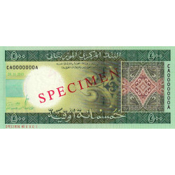Mauritanie - Pick 18s - 500 ouguiya - 28/11/2013 - Spécimen - Etat : NEUF