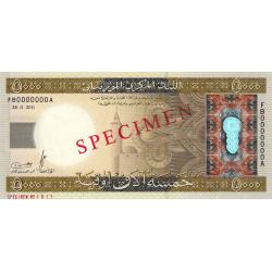 Mauritanie - Pick 21s - 5'000 ouguiya - 28/11/2011 - Spécimen - Etat : NEUF