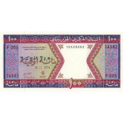 Mauritanie - Pick 4a2 - 100 ouguiya - 28/11/1974 - Etat : NEUF