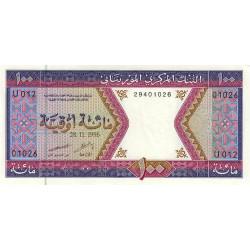 Mauritanie - Pick 4h - 100 ouguiya - 28/11/1996 - Etat : NEUF