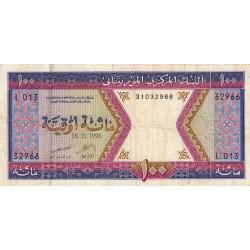 Mauritanie - Pick 4h - 100 ouguiya - 28/11/1996 - Etat : TB