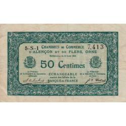 Alençon / Flers (Orne) - Pirot 6-43 - 50 centimes - Série 5S1 - 10/08/1915 - Etat : SUP