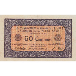 Alençon / Flers (Orne) - Pirot 6-45 - 50 centimes - 1915 - Etat : TTB