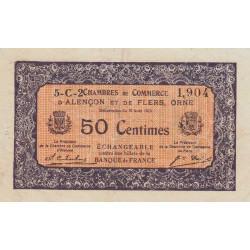 Alençon / Flers (Orne) - Pirot 6-45 - 50 centimes - Série 5C2 - 10/08/1915 - Etat : TTB