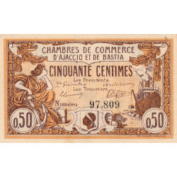 Ajaccio / Bastia - Pirot 3-1 - 50 centimes - 06/08/1915 - Etat : SUP+