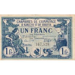 Ajaccio / Bastia - Pirot 3-2 - 1 franc - 06/08/1915 - Etat : TB+