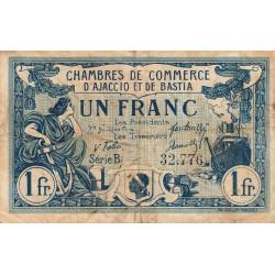 Ajaccio / Bastia - Pirot 3-7 - 1 franc - Série B - 08/01/1918 - Etat : TB-