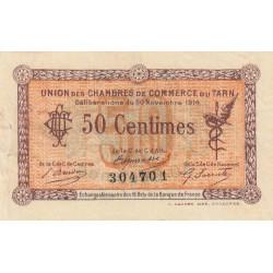 Albi / Castres / Mazamet (Tarn) - Pirot 5-1b - 50 centimes - 1914 - Etat : TTB