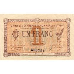 Albi / Castres / Mazamet (Tarn) - Pirot 5-5 variété - 1 franc - 30/11/1914 - Etat : TTB