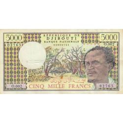 Djibouti - Pick 38c - 5'000 francs - 1993 - Etat : TB+