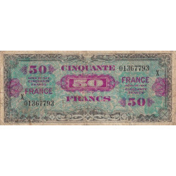 VF 24-04 - 50 francs série X - France - 1944 (1945) - Etat : TB-
