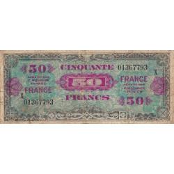 VF 24-04 - 50 francs série X - France - 1944 - Etat : TB-