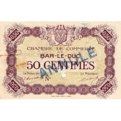 Bar-le-Duc - Pirot 19-2 - 50 centimes - Sans date (1915) - Annulé - Etat : SUP