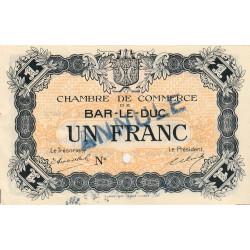 Bar-le-Duc - Pirot 19-5 - 1 franc - Sans date (1915) - Annulé - Etat : pr.SPL