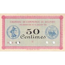 Belfort - Pirot 23-20 - 50 centimes - Spécimen - 1916 - Etat : NEUF