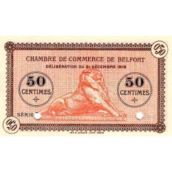 Belfort - Pirot 23-53a - 50 centimes - Série 5 - 21/12/1918 - Spécimen - Etat : NEUF