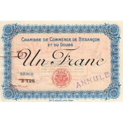 Besançon (Doubs) - Pirot 25-10 - 1 franc - Annulé - Sans date - Etat : TTB+