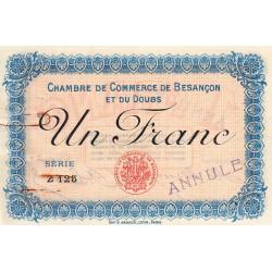 Besançon (Doubs) - Pirot 25-10 - 1 franc - Série Z 125 - Sans date (1915) - Annulé - Etat : TTB+