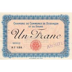 Besançon (Doubs) - Pirot 25-16 - 1 franc - Série AI 134 - Sans date (1915) - Annulé - Etat : SUP+