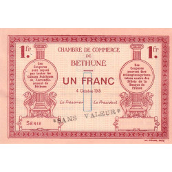 Béthune - Pirot 26-7 - 1 franc - Spécimen - 1915 - Etat : SUP