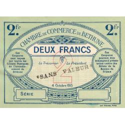 Béthune - Pirot 26-12 - 2 francs - Série - 04/10/1915 - Spécimen - Etat : SUP+