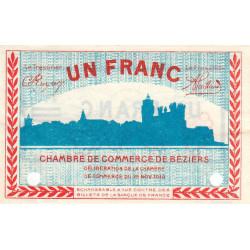 Béziers - Pirot 27-24 - 1 franc - Spécimen - 1918 - Etat : SUP+