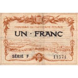 Alais (Alès) - Pirot 4-5 - 1 franc - Série F - 16/08/1915 - Etat : TB