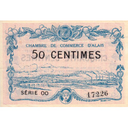 Alais (Alès) - Pirot 4-7 - 50 centimes - 1916 - Etat : TTB+