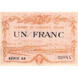 Alais (Alès) - Pirot 4-9 - 1 franc - Série AA - 30/03/1916 - Etat : SUP