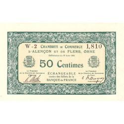 Alençon / Flers (Orne) - Pirot 6-5 - 50 centimes - Série W2 - 10/08/1915 - Etat : NEUF