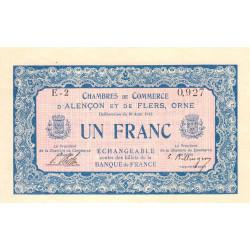 Alençon / Flers (Orne) - Pirot 6-6 - 1 franc - Série E2 - 10/08/1915 - Etat : NEUF