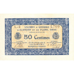 Alençon / Flers (Orne) - Pirot 6-12 - 50 centimes - Série L2 - 10/08/1915 - Etat : SUP+