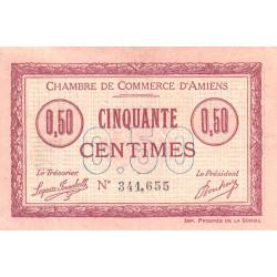 Amiens - Pirot 7-14 - 50 centimes - 1915 - Etat : TB+