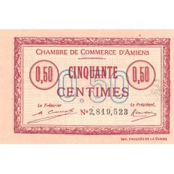 Amiens - Pirot 7-49b - 50 centimes - 1920 - Etat : SPL