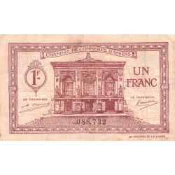 Amiens - Pirot 7-56 - 1 franc - 1922 - Etat : TB-