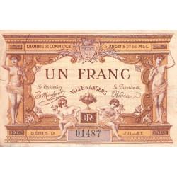 Angers (Maine-et-Loire) - Pirot 8-1 - 1 franc - Série D -  07/1915 - Etat : TB+
