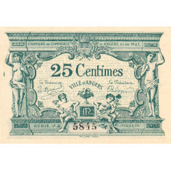 Angers (Maine-et-Loire) - Pirot 8-8a - 25 centimes - 1917 - Etat : SPL