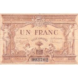 Angers (Maine-et-Loire) - Pirot 8-9 - 1 franc - Série J3 - 07/1915 - Etat : TB