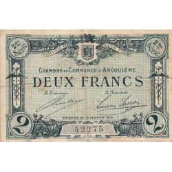 Angoulême - Pirot 9-12 - 2 francs - 2ème série - 15/01/1915 - Etat : TB-