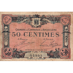 Angoulême - Pirot 9-13 - 50 centimes - 1915 - Etat : B