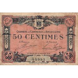Angoulême - Pirot 9-13 - 50 centimes - 3ème série - 15/01/1915 - Etat : B