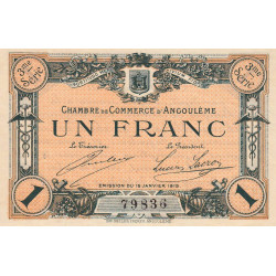 Angoulême - Pirot 9-16 - 1 franc - 1915 - Etat : SUP