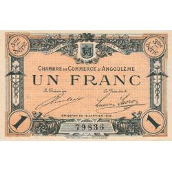Angoulême - Pirot 9-16 - 1 franc - 3ème série - 15/01/1915 - Etat : SUP