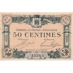 Angoulême - Pirot 9-20 - 50 centimes - 1915 - Etat : TTB-